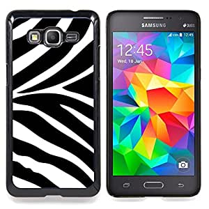 For Samsung Galaxy Grand Prime SM-G530F G530FZ G530Y G530H G530FZ/DS , Modelo blanco Negro Animal África - Diseño Patrón Teléfono Caso Cubierta Case Bumper Duro Protección Case Cover Funda