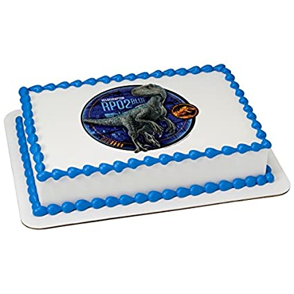 Amazon Com Jurassic World Fallen Kingdom Blue Edible Cake Topper Or