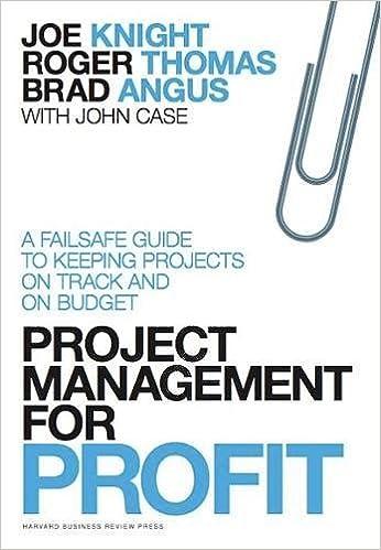amazon com project management for profit a failsafe guide to