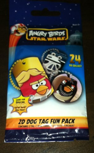 Angry Birds Dog Tags - 1 - PACK - STAR WARS ANGRY BIRDS - OFFICIAL DOG TAG & NECKLACE