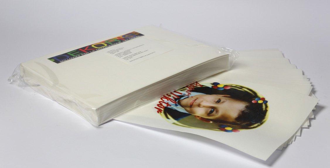 Dekordolci - Hojas de oblea gruesa A4 para impresoras de inyección ...