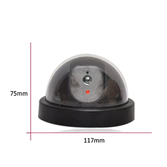 Regard Falsa cámara de vigilancia CCTV simulado al aire libre cubierta impermeable cámara de seguridad Pick-up de cabeza con LED rojo: Amazon.es: Hogar