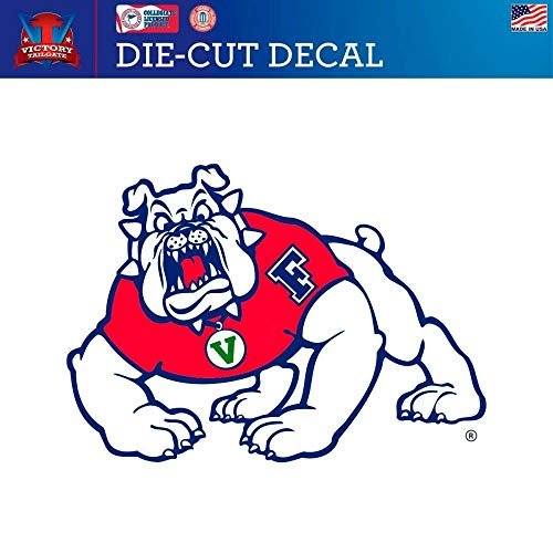 Victory Tailgate Fresno State Bulldogs Die-Cut Vinyl Decal (Approx 6x6)