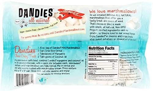 Dandies - Minis - Vegan Marshmallows, Vanilla, 10 Ounce (Pack of 4) by Dandies (Image #1)