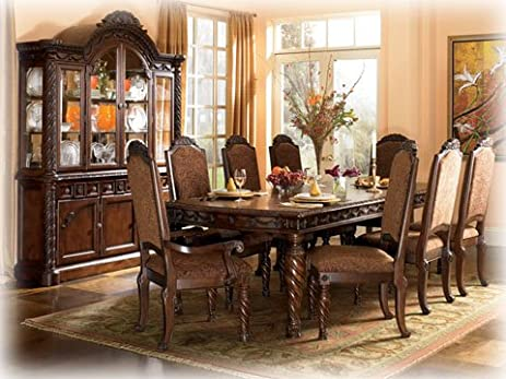 Amazon.com - Dark Brown Rectangular Dining Table by Ashley ...