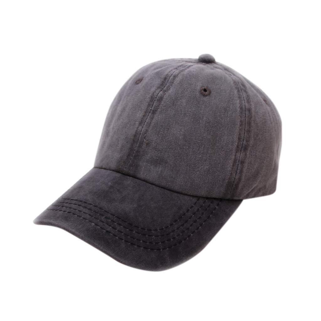 Tanlo 2019 Women Men Unisex Summer Outdoors Denim Visor Baseball Cap Adjustable Hat (Army Green, One Size)