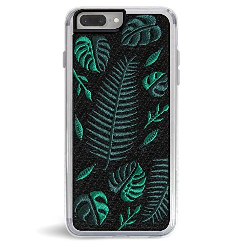 Embroidered Phone Case (Zero Gravity Apple iPhone 7 Plus / 8 Plus Fern Phone Case - Embroidered Design - 360° Protection, Drop Test Approved)