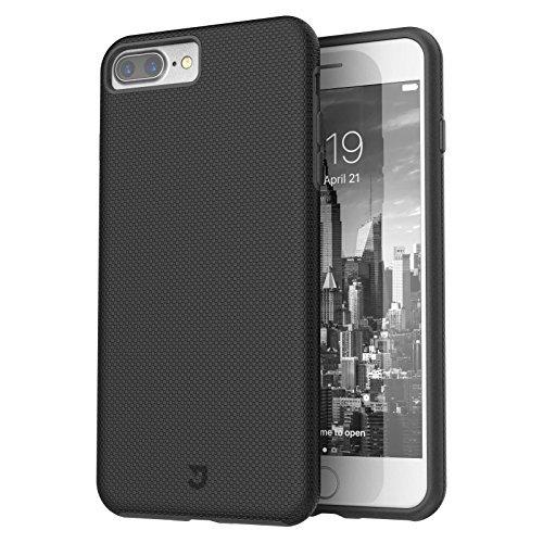 iPhone 8 Plus Case, iPhone 7 Plus Case, Rugged Shock Modern Slim Non-slip Grip Cell Phone Cases for Apple iPhone 8/7 Plus (Black)