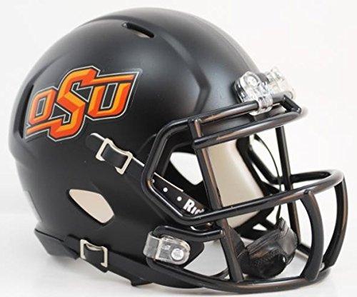 Oklahoma State Football - Oklahoma State Cowboys Black Speed Mini Football Helmet