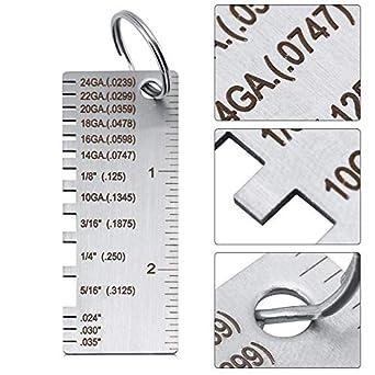 Amazon.com: Medidor de espesor de la hoja de metal, acero ...