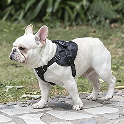 [2018 UPGRADED] Newest Version Dog Harness, No-Pull Pet Harness, Composite Diving Material, Adjustable Vest Harness 3M Reflective Walking Training Outdoor Adventure, Easy Control for Medium Large Dogs