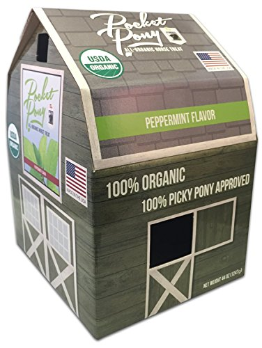 Pocket Pony Horse Treats, Made in USA, 100% Organic Human Grade, Grain Free, Gluten Free, Peppermint Leaf, 44 oz Box ()