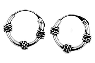ad8c4e25a Image Unavailable. Image not available for. Color: Tribal Artisan Jewelry  Bali Hoop Earrings ...