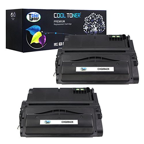 Cool Toner 2 Pack 20,000 Pages Compatible Toner Cartridge Replacement For HP 42X Q5942X Q1338A Q5942 Used For HP LaserJet 4200 4240 4250 4250TN 4250N 4250DTN 4300 4350 4345MFP 4350N 4350TN 4350DTN