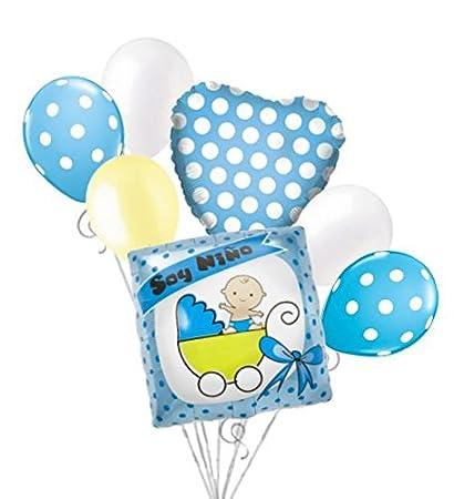 Amazon Com 7 Pc Soy Nino Blue Buggy Balloon Bouquet Party Baby