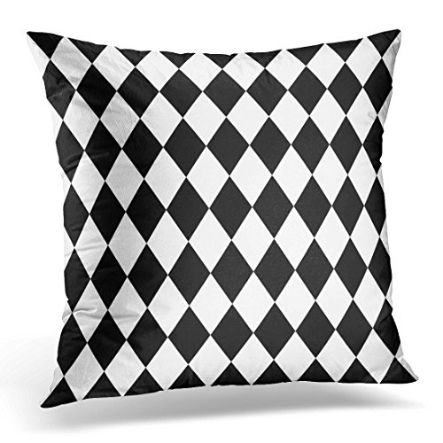 Breezat Throw Pillow Cover Abstract Black and White Pattern Baby Decorative Pillow Case Home Decor Square 16x16 Inches (2 Pierrots Halloween)