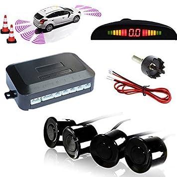 Electronique pour voiture Aide au stationnement TKOOFN Kit Radar De Recul 8 Capteurs GRIS Auto Système Parcage Stationnement Numérique Ecran LED