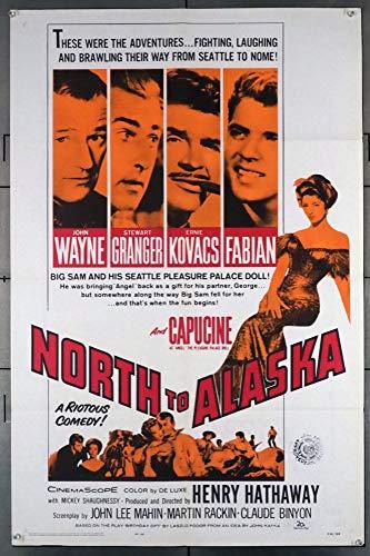 North To Alaska (1960) Original U.S. One-Sheet Movie Poster 27x41 Folded Fine Condition JOHN WAYNE STEWART GRANGER CAPUCINE FABIAN Film directed by HENRY HATHAWAY