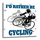 3dRose Id Rather Be Cycling. Funny Quotes. Popular Saying. – Wall Clock, 15 by 15-Inch (dpp_218217_3) For Sale