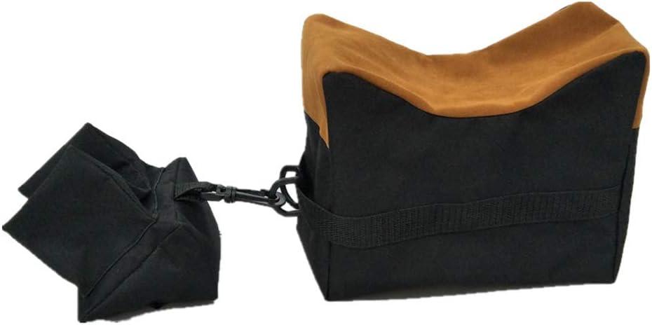 uyhghjhb Bolsa de tiro al aire libre para caza y tiro de arena, soporte para parte delantera y trasera de cojín, gama de soportes, negro