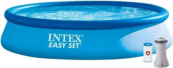 Intex 28142NP Piscina hinchable, con depuradora, 7.290 litros, 396 x 84 cm: Amazon.es: Jardín