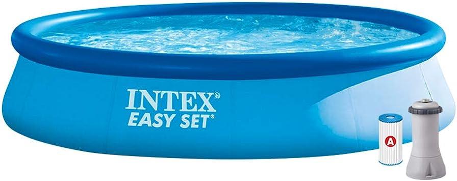 Intex 28142NP Piscina hinchable, con depuradora, 7.290 litros, 396 ...