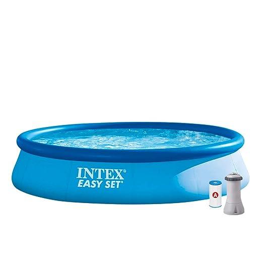 Intex 28142NP Piscina hinchable, con depuradora, 7.290 litros, 396 x 84 cm