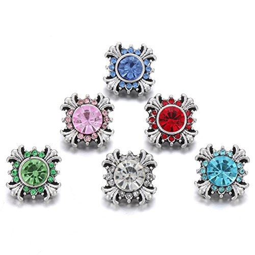 Lovglisten 6pcs Faith Cross Style fit 12mm Mini Snap Button Charm Jewelry (7)