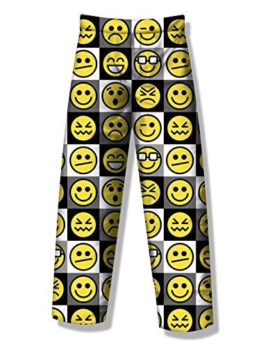 Fun Boxers Mens Smiley Fun Prints Pajama & Lounge Pants, Smiley Emoji, Medium