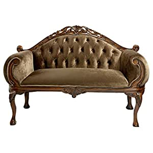 Design Toscano Mademoiselle Moreau's French Salon Settee