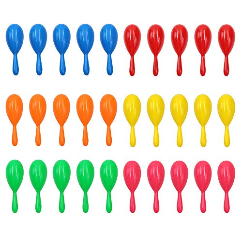 30pcs Neon Party Maracas Shakers Colorful Noise Makers - 4