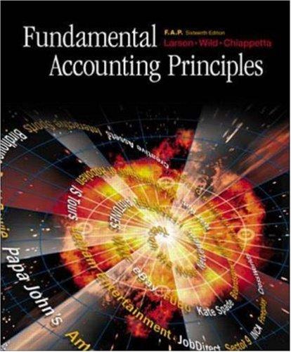 Fundamental Accounting Principles F.A.P. w/ CD, NetTutor & Powerweb (16th Edition)