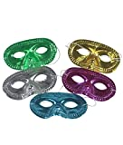 Fun Central P964 24 Pcs Metallic Half Masks, Kids Costume Party Accessory Decoration, Masquerade, Mardi Gras, Prom, Halloween Party Favors, Giveaways - Assorted Colors - 2 of 12 Pcs