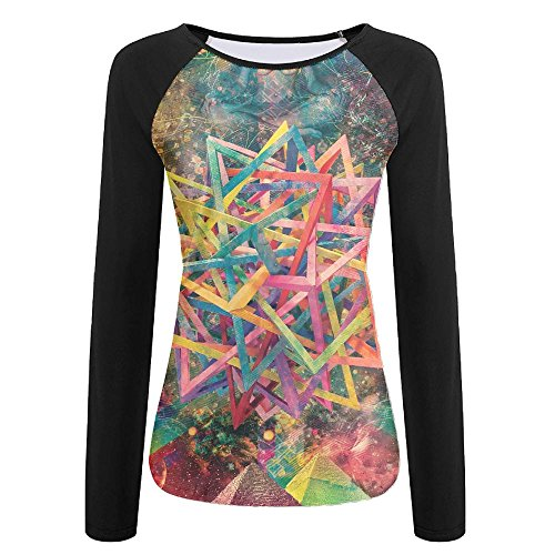 Baseball T-Shirt Puzzle Creative Raglan Casual Top ()