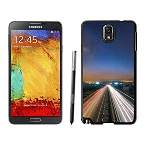 NEW Custom Diyed Diy For SamSung Galaxy S4 Mini Case Cover Phone With Long Exposure Light Trails Cars_Black Phone
