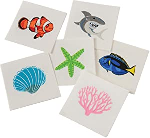 U.S. Toy Assorted Coral Reef Ocean Life Children's Temporary Tattoos (144)