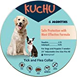 Dog Flea Treatment Collar - KUCHU - Flea and Tick Prevention Collar for Small, Normal, Large Dogs and Puppies. Kills, Repels, Prevents Flea and Ticks | Most Effective and Safest Formula