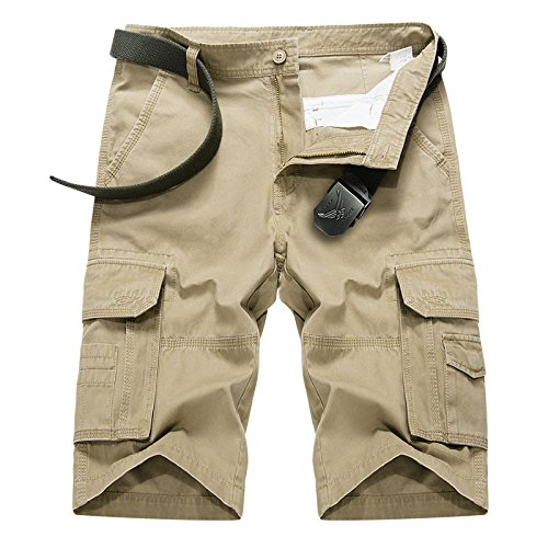 e6bc643650 Para Hombre Pantalones Cortos Verano Playa Informal Bolsillos Múltiples  Algodón Al Aire Libre Deportes Pantalones Cortos
