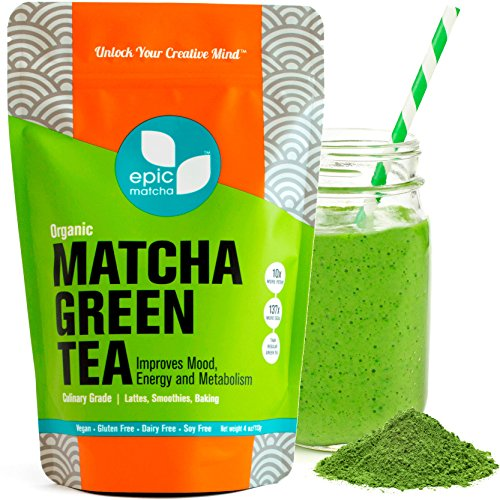 Matcha Green Tea Powder - Best for Smoothies, Lattes, Drinks