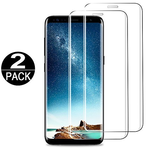 [2 Pack] Samsung Galaxy S8 Screen Protector Tempered Glass 3D Curved Full Coverage HD Clear 9H Anti-Scratch Tempered Glass Screen-Protector Film For samsung galaxy s8