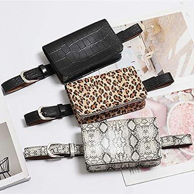 Homeofying Moda Mujer Leopard Print Travel Riñonera Monedero Monedero Messenger Fanny Pack Riñonera café: Amazon.es: Belleza