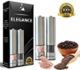 Premium Electric Salt And Pepper Grinder Set, Battery Operated, Stainless Steel Electric Pepper