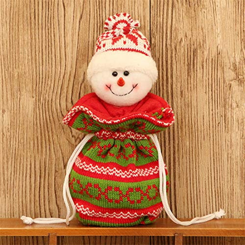Christmas Drawstring Gift Bags Doll - Creative Bear Deer Snowman Old Man Apple Bag, Xmas Ornament Backpack Candy Ribbon Bags for Children ()