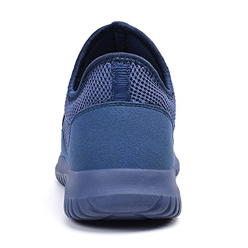 Slip Sports Women Men on Casual Running Road Trainers Walking Shoes Blue ZOCAVIA Breathable SwPxHUtU