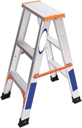 LPZ Escalera de Tijera Escalera Plegable Escalera telescópica Escalera Recta aleación de Aluminio hogar portátil Aseo Dos Tres Cuatro escalones (Size : 84cm): Amazon.es: Hogar