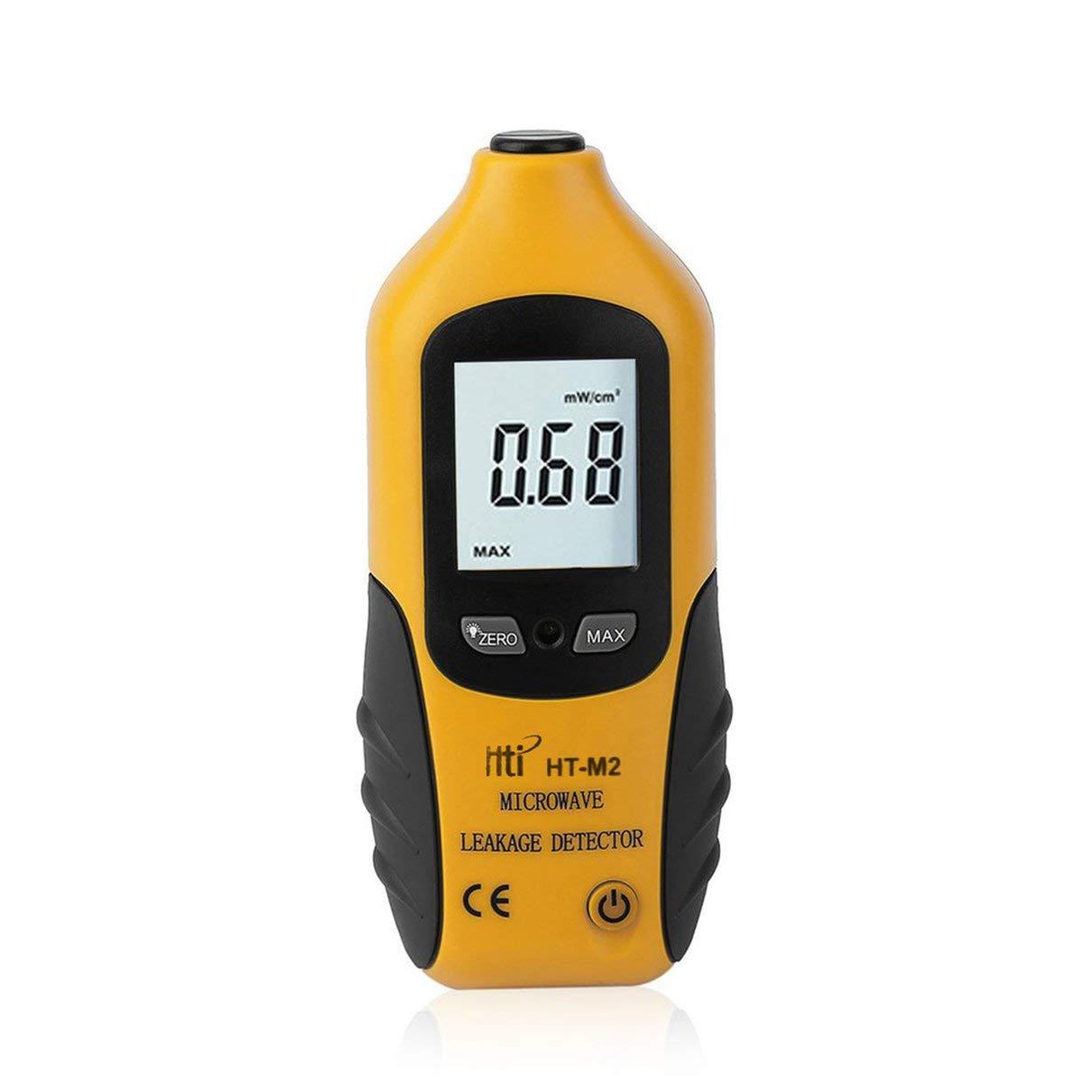 SaraHew74 Fit HT-M2 Professionnel /Écran Num/érique LCD D/étecteur de fuites micro-ondes Testeur de radiations de haute pr/écision 0-9.99mW cm2