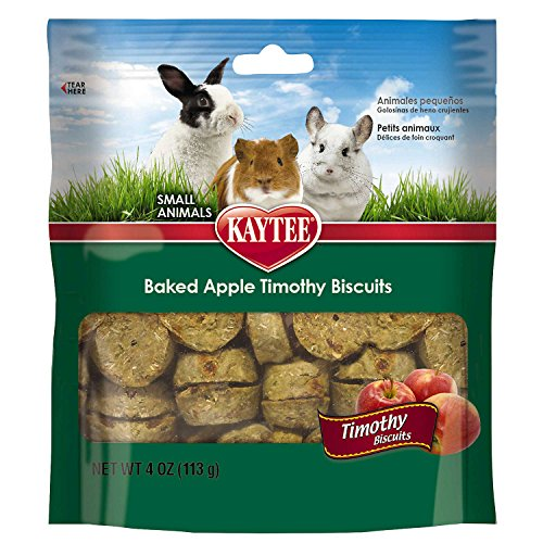 Kaytee Timothy Biscuits Baked Apple Treat, 4oz bag (Kaytee Chinchilla Food)