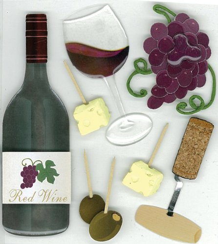 Jolee's Boutique Wine Tasting Dimensional Stickers