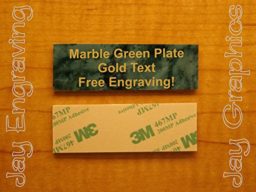 (Custom Engraved 1x3 Marble Green Plate | Name Tag Sign | Badge With Adhesive | Engraving Trophy Plaque Urn Keepsake Loving Personalized Scrapbook Organize Small Business Home Office Wall Door Plaque)