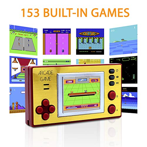 Pocket Arcade Game - Mini Arcade Game, Handheld Game Console, Retro Arcade, Classic Arcade Games, Retro Arcade Gaming Console, 153 Games for Kids and Adults
